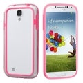 BasAcc Pink/ Clear MyBumper Case for Samsung Galaxy S IV/ S4