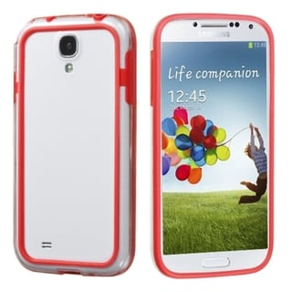 INSTEN Red/ Clear MyBumper Phone Case Cover for Samsung Galaxy S IV/ S4