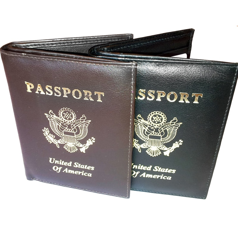 Kozmic Leather Golden Embossed Passport Cover