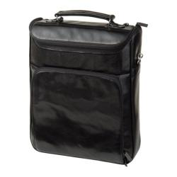 Women's Luis Steven Medium Briefcase Pack R-3470 A Black Leather