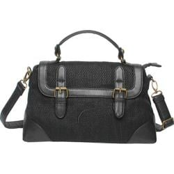 Women's Make Love Not Trash Nightfall Small Flap Satchel Black
