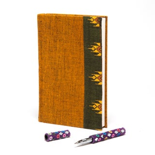 100-Page Handwoven Border Textile Notebook (India)