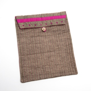 Hand-stitched Cotton iPad Sleeve (India)