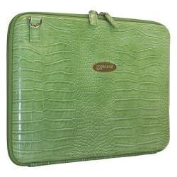 Women's Mobile Edge Faux Croc TechStyle Portfolio- 14.1inPC/15inMac Green