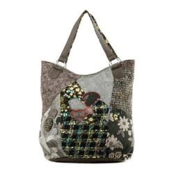 Women's Nikky by Nicole Lee Aberdine Patchwork Tote Green