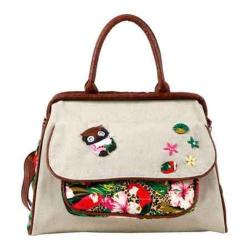 Women's Nikky by Nicole Lee Acelin Tropical Doctor Bag Beige
