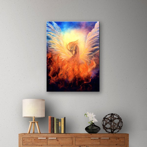 Marina Petro 'Phoenix Rising' Gallery-Wrapped Canvas