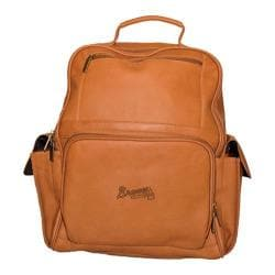 Pangea Large Computer Backpack PA 352 MLB Atlanta Braves/Tan