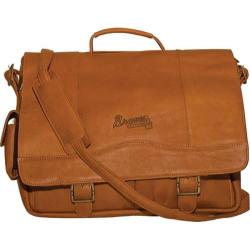 Men's Pangea Porthole Laptop Briefcase PA 142 MLB Atlanta Braves/Tan