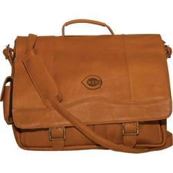 Men's Pangea Porthole Laptop Briefcase PA 142 MLB Cincinnati Reds/Tan