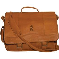 Men's Pangea Porthole Laptop Briefcase PA 142 MLB Kansas City Royals/Tan