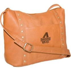 Women's Pangea Top Zip Handbag PA 749 MLB Arizona Diamondbacks/Tan