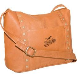 Women's Pangea Top Zip Handbag PA 749 MLB Baltimore Orioles/Tan