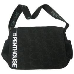 Penthouse Graphic Key Messenger Bag Black