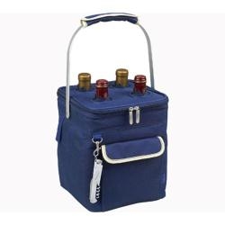 Picnic at Ascot Aegean Multi Purpose Beverage Cooler Blue/Cream