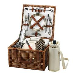 Picnic at Ascot Cheshire Basket for Two with Coffee Service Wicker/London