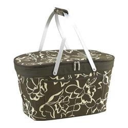 Picnic at Ascot Collapsible Insulated Basket Olive Floral