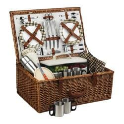 Picnic at Ascot Dorset Basket for Four with Coffee Service Wicker/London