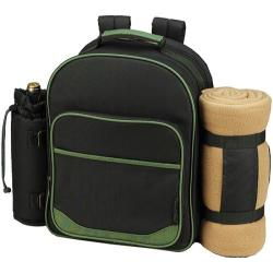 Picnic at Ascot Eco Picnic Backpack for Two with Blanket Forest Green