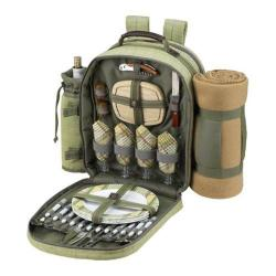 Picnic at Ascot Hamptons Picnic Backpack w/ Removable Blanket Olive/Tweed