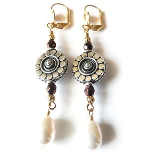 'Lucrezia' Glass Pearl Earrings