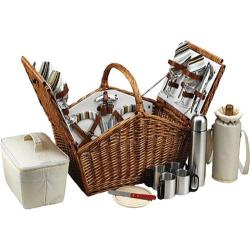 Picnic at Ascot Huntsman Basket for Four with Coffee Service Wicker/Gazebo