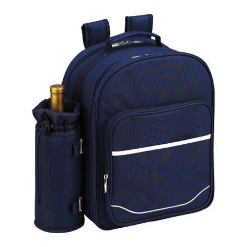 Picnic at Ascot Picnic Backpack for Two with Blanket Navy/White