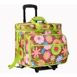 Picnic at Ascot Picnic Cooler for Four/Wheeled Cart Floral