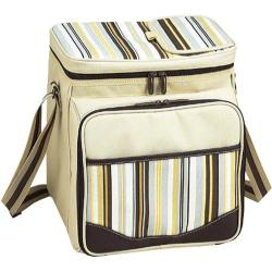 Picnic at Ascot Santa Cruz Picnic Cooler for Two Cream/Soft Stripe