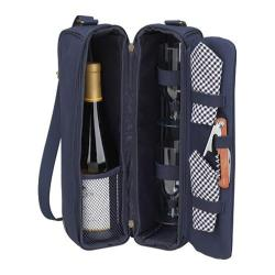 Picnic at Ascot Sunset Deluxe Wine Carrier for Two Navy/Gingham