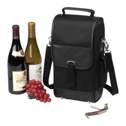 Picnic at Ascot Two Bottle Carrier Black
