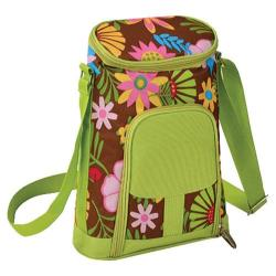 Picnic at Ascot Two Bottle Carrier and Cheese Set Floral Floral