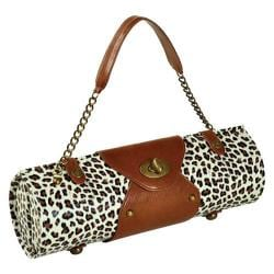 Women's Wine Carrier/Purse Snow Leopard