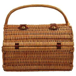 Picnic at Ascot Yorkshire Picnic Basket for Four with Blanket Wicker/Gazebo