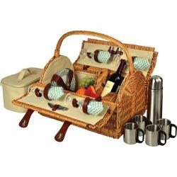 Picnic at Ascot Yorkshire Picnic Basket for Four with Coffee Wicker/Gazebo