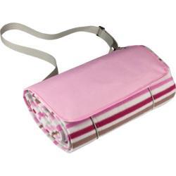 Picnic Time Blanket Tote Pink Stripe