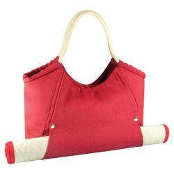 Picnic Time Cabo Beach Tote and Mat Red