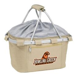 Picnic Time Metro Basket Bowling Green State Falcons Print Tan