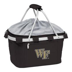 Picnic Time Metro Basket Wake Forest Demon Deacons Embroidered Black