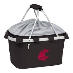 Picnic Time Metro Basket Washington State Cougars Embroidered Black