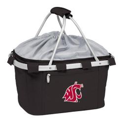 Picnic Time Metro Basket Washington State Cougars Print Black