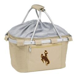 Picnic Time Metro Basket Wyoming Cowboys Print Tan