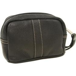 Women's Piel Leather Cosmetic Bag 2590 Black Leather
