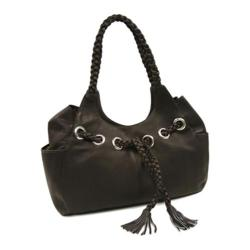 Women's Piel Leather Braided Hobo 2748 Chocolate Leather