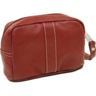 Women's Piel Leather Cosmetic Bag 2590 Red Leather