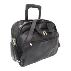 Piel Leather Office On Wheels Rolling Carry On Laptop Case