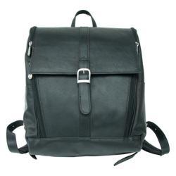 Piel Leather Black Slim Laptop Backpack