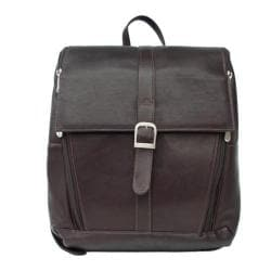 Piel Leather Chcolate Slim Laptop Backpack