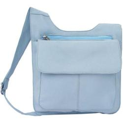 Women's Piel Leather Slim Line Mail Bag 2006 Pastel Blue Leather Today ...