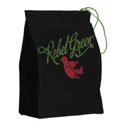 Rebel Green Logo Lunch Bag/Reusable Napkin Black Cotton Canvas